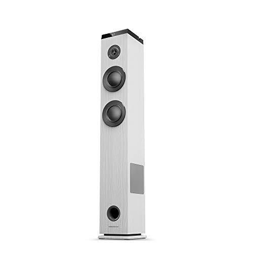 Oferta de Energy Sistem Tower 5 g2 Torre de Sonido con Bluetooth Ivory (65 W, Bluetooth 5.0, True Wireless Stereo, Radio FM, USB/MicroSD MP3 Player, Audio-In)-Blanco