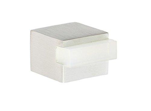 evi-herrajes-i-197-25-bh-tope-de-puerta-adhesivo-acabado-mate-acero-inoxidable-goma-de-color-blanco