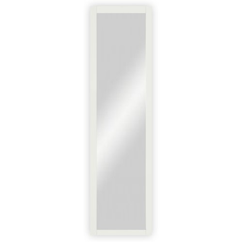 Wand-  Garderobenspiegel mit Holzrahmen, Buche weiß lackiert - ca. 39 x 102,5 cm