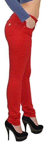 by-tex Damen High Waist Jeans Hose Damen Jeanshose in aktuellen Farben bis Größe Übergröße 54#H50