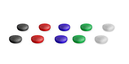 Lioncast Analog Cups für die Controller der PS4 - Aufsätze 10 Stück, 5 Farben