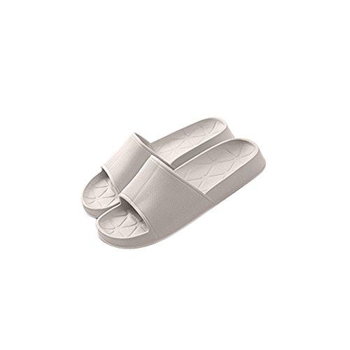 TELLW Solid Color Velluto Corallo Ispessimento Caldo Pavimento in Legno Pantofole Invernali e Pantofole da Donna e da Uomo all'aperto di Cotone Khaki