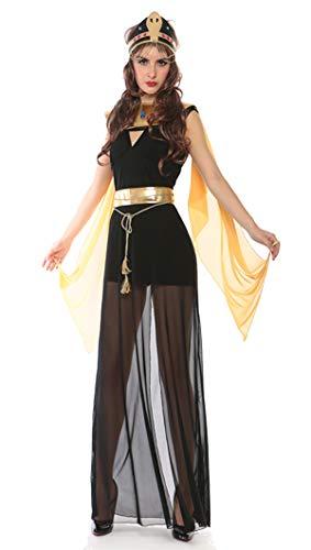 Muster Kostüm Cleopatra - Bslingerie Ägypten Pharao Cleopatra Halloween Kostüm Kleid (Kleopatra-Kleid, L)