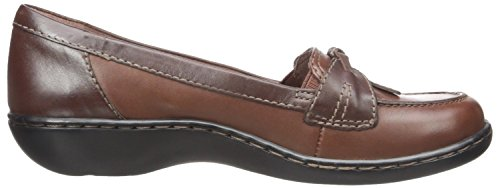 Clarks Ashland Bubble Toe Moc Leather Loafer Brown Leather