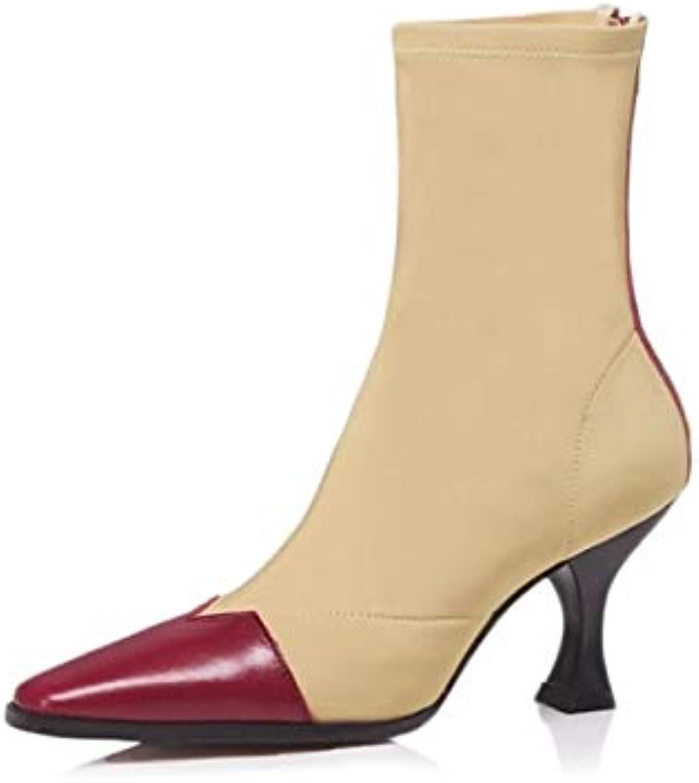 ZHZNVX Scarpe da Donna in Pelle Nappa Autunno & Inverno Inverno Inverno Comfort Stivali Tacco a Spillo Nero Rosso   Mandorla,... | Abile Fabbricazione  | Scolaro/Ragazze Scarpa  33e95d