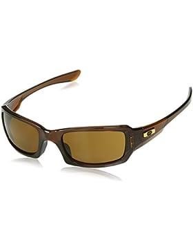 Oakley Fives Squared 923807, Gafas de Sol para Hombre, Marrón (Polished Rootbeer/Dark Bronze), 54