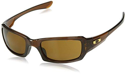 Oakley Herren Fives Squared 923807 54 Sonnenbrille, Braun (Polished Rootbeer/Dark Bronze),