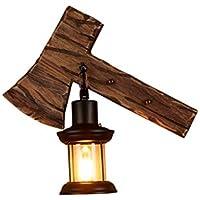 03e050ca7ed Amazon.es  apliques pared vintage - Madera   Iluminación de interior ...