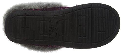 Dearfoams Damen Chunky Novelty Knit Clog with Memorry Foam Hausschuhe Purple (Aubergine 00765) A6MX2OoW