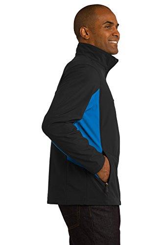 Port Authority Big et longue Veste imperméable pour homme Black/ Imperial Blue