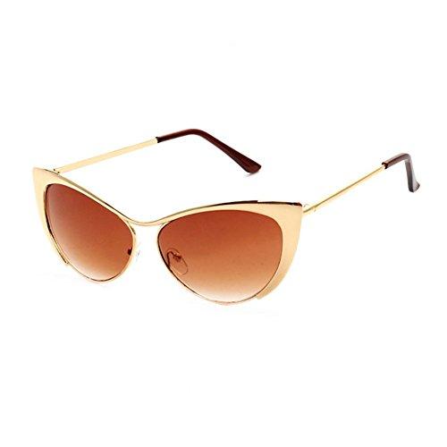 Z-P temperamento de las mujeres marco de metal lente de color gafas de gato gafas de sol UV-resistente