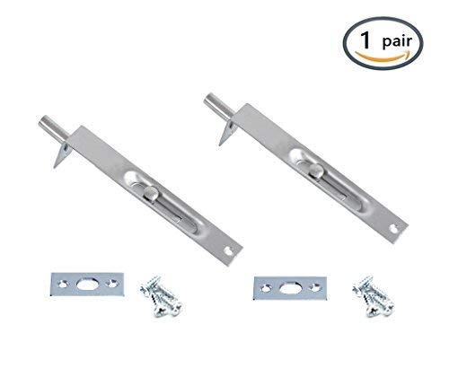 BTMB 15,2cm L Typ verdeckter Sicherheit Türschloss für Composite Türen, Französisch Türen, Holz Türen 1Paar (Holz-tür-sicherheit)