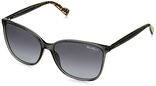 Max mara mm light i hd bv0 58, occhiali da sole donna, grigio (dark fabric/grey sf)