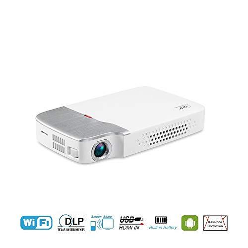 AFFC Mini-Projektor - Full HD LED-Projektor unterstützt 1080P, 30.000 Stunden Multimedia-Heimkino-Filmprojektor für Heimkino, Diaprojektor, HDMI, VGA, USB, AV, Laptop, Smartphone