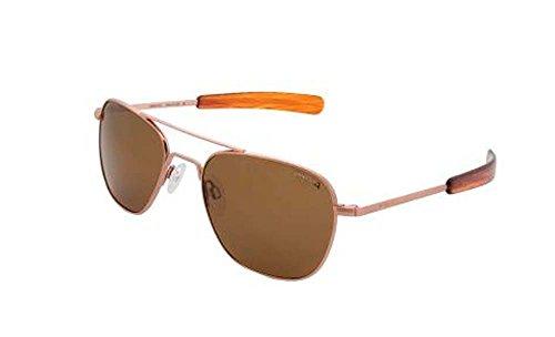 Preisvergleich Produktbild Randolph Polarisierte Sonnenbrille / Fliegerbrille,  Rotgold,  58 mm