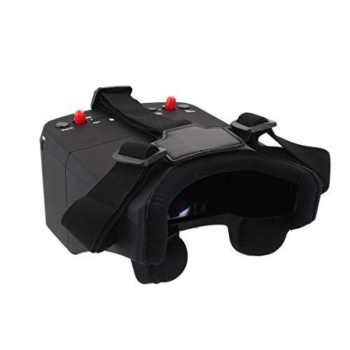 LS-800D 5.8G 5in 40CH FPV Brille Headset Empfänger Monitor mit HD DVR Dual Antenne Auto-Suche nach RC Racing Drone (Farbe: Schwarz)