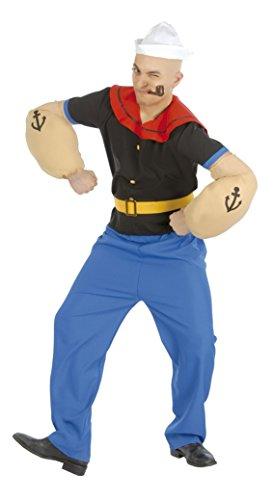 Guirca Costume vestito marinaio Braccio di Ferro carnevale uomo 8466_