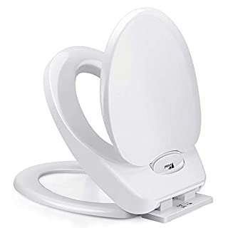 Amzdeal Toilet Seat Soft Close with Child Toilet Seat 2 in 1, Family WC Seats, Toilet Lid for Toddlers Potty Training Bearing 200kg- White