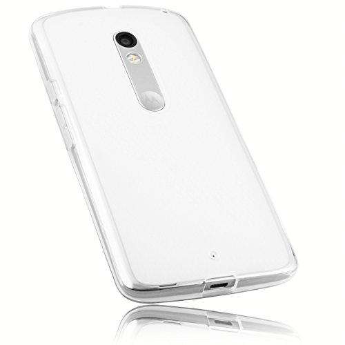 mumbi Schutzhülle Motorola Moto X Play Hülle transparent weiss