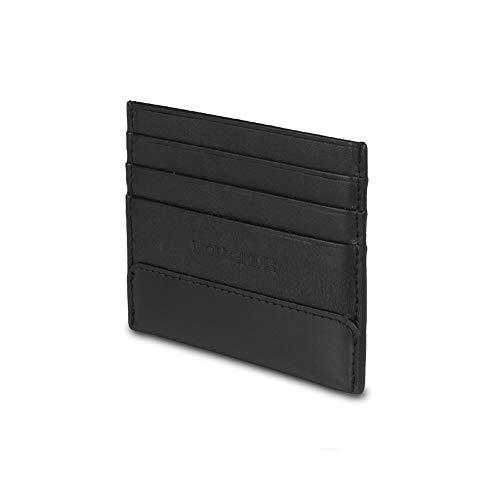 Moleskine - Cartera de piel para tarjetas, color negro