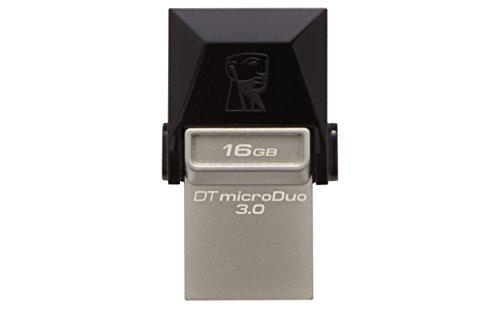 Kingston dtduo3/16gb chiavetta usb 16 gb, usb 3.0, velocità lettura 70 mb/s, velocità scrittura 10 mb/s, nero