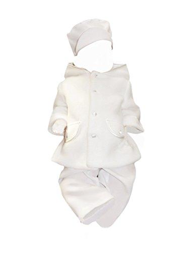 Mantel Jacke Taufmantel für Baby Kind Junge und Mädchen für Taufe Hochzeit Fest, Je13 Gr. 80/86 (Taufe Seide Kleid Taufe)