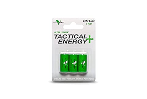 Viridian CR123A 3 Volt Lithium Battery, 3-Pack by Viridian Green Laser Sights
