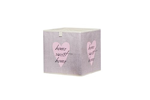intertrade-002153-beta-1-heart-caja-plegable-3-unidades-aspecto-de-plastico-beige-32-x-32-x-32-cm