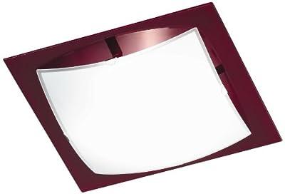 Honsel Leuchten 24971 Deckenleuchte Glas weiß matt/Rand brombeer von Honsel bei Lampenhans.de