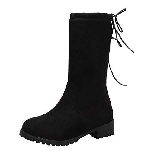 Solide runder Satz Füße starke Fersen Stiefel Casual Mode-Trend Wintermantel mit Jeans