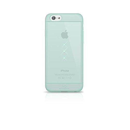 Elizabeth taylor white diamonds custodia tpu impreziosita con cristalli swarovski per iphone 6/6s, azzurro