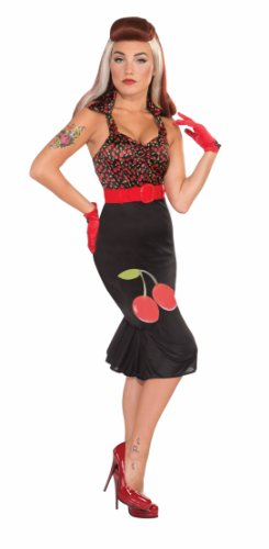 Forum Novelties AC535 Cherry Anne Retro vestido (UK 10 – 14)