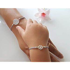 Armbänder Set Lebensblume 925 Silber