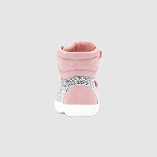 Abcd'r Mdchen Hohe Sneakers Fur Madchen, Leoprintbr rosa + Leopardenmuster