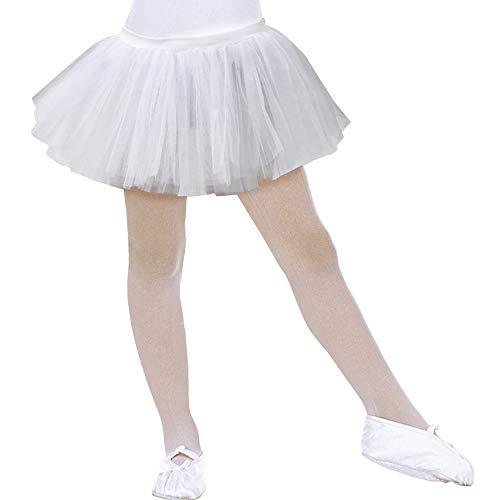 Ballett Tänzerin Kostüm Halloween - Widmann 1745T - Tutu für Kinder, weiß, Einheitsgröße