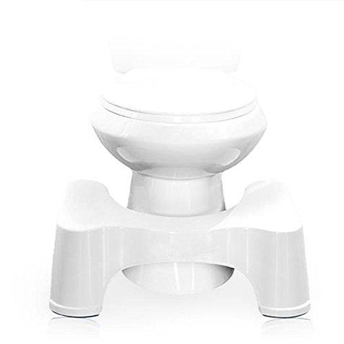 21cm blanco un tamaño más ergonómico para inodoro taburete taburete de baño para mejor y más saludable resultados