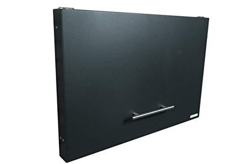 anytime-box - faltbarer, sehr flacher und dezenter Paketkasten (Variante anthrazit RAL 7016) - Paketbriefkasten für große Pakete bis 52 x 38 x 36 cm