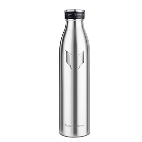 Super sparrow borraccia termica - 500ml   bottiglia acciaio inox isolamento   senza bpa - borracce per bambini, scuola, sport, all'aperto, palestra, yoga