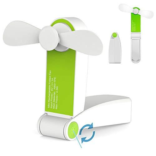 Jhua Ventilador de Bolsillo Plegable Portátil Ventilador de Bolsillo Plegable USB Ventilador...