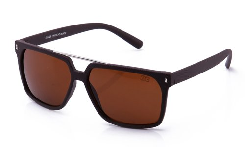 IG Plastic High Fashion Frame Design Wayfarer Style Sunglasses in Matte Brown