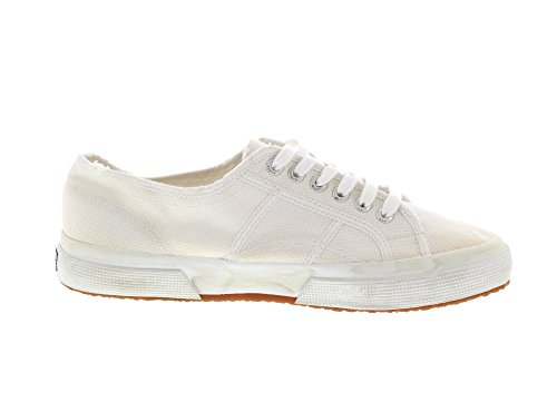 Superga 2750 Cotu Stone Wash, Chaussons Sneaker Adulte Mixte Weiß (white)