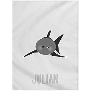 Fleecedecke Kuscheldecke Babydecke Bettdecke Decke Dreamchen Hai