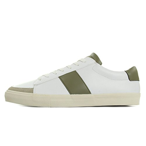 Jim Rickey Gusten, Baskets Basses Homme Blanc (Vert Army)
