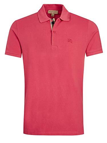 Burberry Herren T-Shirt Polo Kurzarm Kurzarmshirt Polokragen oxford fuxia EU S (UK 36) 3981520