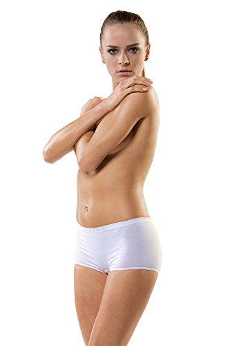 5x Brubeck Slip Boxer pour femme PerfectFit nahtlos (Femme Sports de sous-vêtements Boxer Short coton polyamide haute qualité pour) blanc