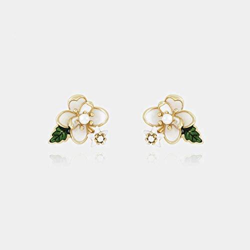 Gardenia-geschenk-set (Schmuck Gardenia Blume Hand-Drop Blume Blume Ohrringe Weibliches Temperament Wilde Ohrringe Mode Ohrringe Romantisch)