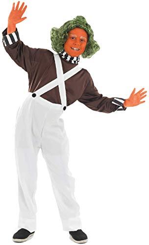 Halloween Kostüm Loompa Oompa - Fancy Me Jungen Mädchen Kinder Kinder Oompa Loompa büchertag Halloween Kostüm Kleid Outfit 4-12 Jahre - Weiß, 4-6 Years, Weiß