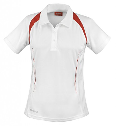 Result - Polo - Manches courtes - Femme Multicolore - Multicoloured - White/Red