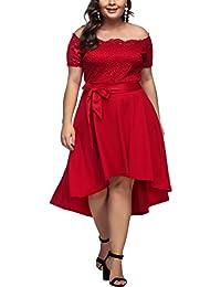 FeelinGirl Mujer Vestido de Noche Encaje Largo Traje Talla Extra Grande ab744186a999
