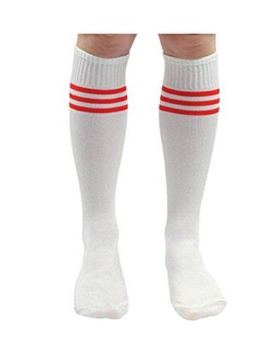 Feililong Fussball Basketball Baseball Football Knie-Socken SportSocken Sport Socken (1 Stück, weiß)
